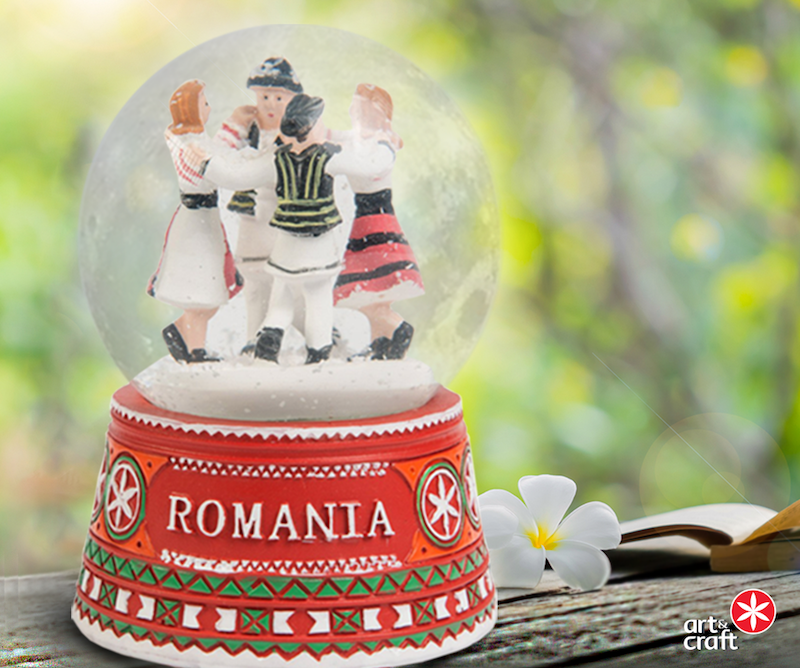Romanian snowglobe